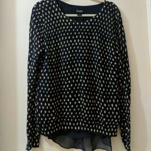 Lucky brand sweater with sheer lining